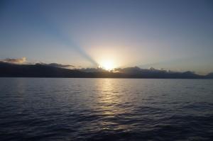 Non, ce n'est pas un coucher de soleil, mais bien un lever...