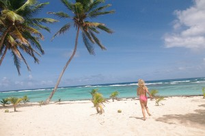 Des plages de sable blanc, comme on en voit sur les cartes postales.