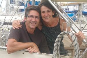 Jesus et Ines, un couple d'Espagnols vraiment adorables... Jesus traverse l'Atlantique en solo pour rejoindre Cadix, qu'Ines rallie en avion.