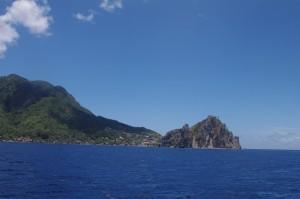 La pointe du de la Dominique avec le rocher Scott's Head. Juste après les conditions se sont fortement dégradées.