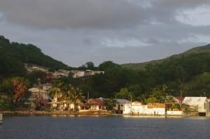Le petit village de Deshaies, dans le fond d'une crique, fut le repaire de corsaires et autres pirates.