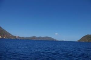 L'archipel des Saintes, plutôt calme en cette période.