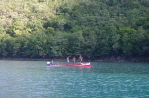 Nous sommes seuls, excepté quelques pêcheurs de passage qui viennent lancer leur filet en début de matinée.